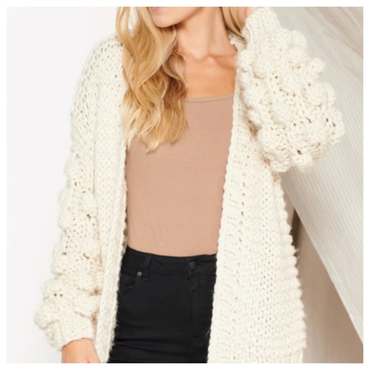 BUBBLE CARDIGAN